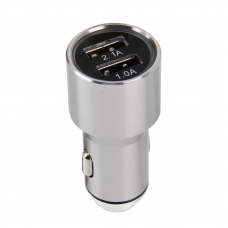 АЗУ (Car charger) 2 USB 2.1A серый ISA