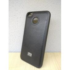 Cиликоновый с кожаной вставкой чехол для Xiaomi Mi8 SE