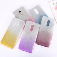 Силиконовый чехол Glitter Colors для Xiaomi Redmi 5 Plus градиент