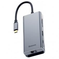 USB-концентратор Baseus Multi-functional HUB Type-C - 2xUSB/HDMI/Type-C/RJ45 (CATXF-0G), разъемов: 3