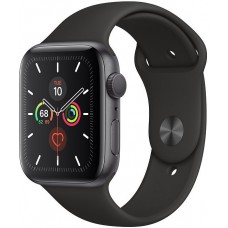 Apple Watch Series 5 GPS 44mm Aluminum Case with Sport Band (Серый Космос/Черный) (MWVF2)