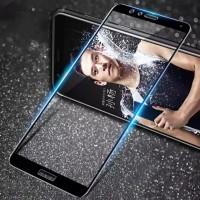 Закаленное 5D защитное стекло на Huawei Honor 7C Black (Черный)