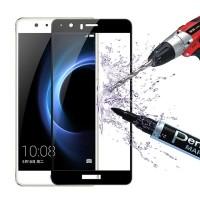 Закаленное 5D защитное стекло на Huawei Honor 9 Lite Black (Черный)