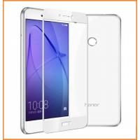 Закаленное 5D защитное стекло на Huawei Honor 7A Pro White (Белый)