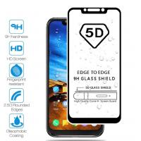 Закаленное 5D защитное стекло на Xiaomi Pocophone F1 Black (Черный)